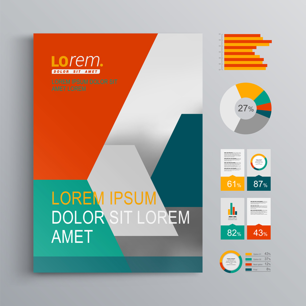 Infographic With Modern Brochure Template Vector 02 Welovesolo