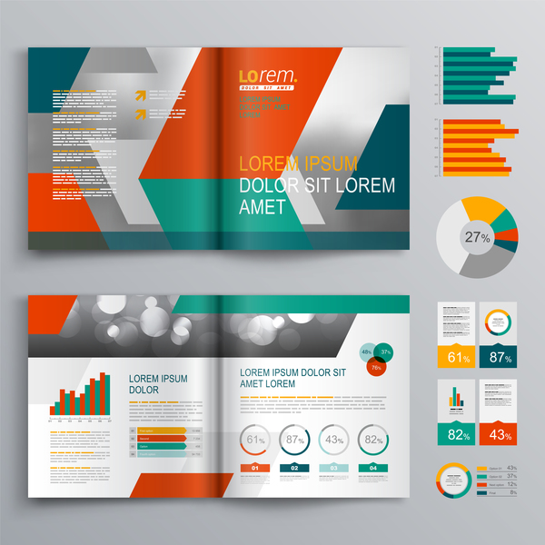 Infographic With Modern Brochure Template Vector 05 Welovesolo