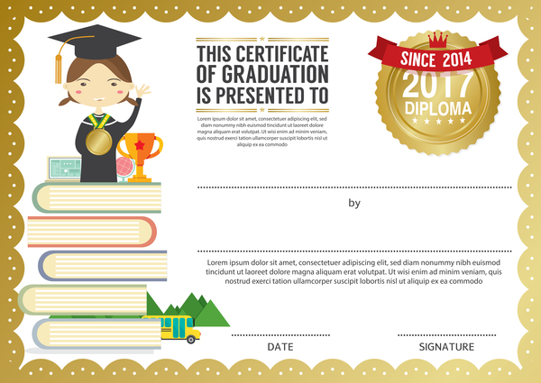 kids with diploma templates vectors 02 welovesolo