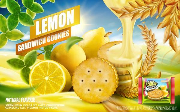 poster lemon cookies