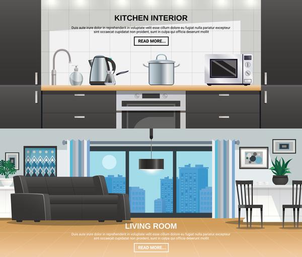 room living kitchen interior