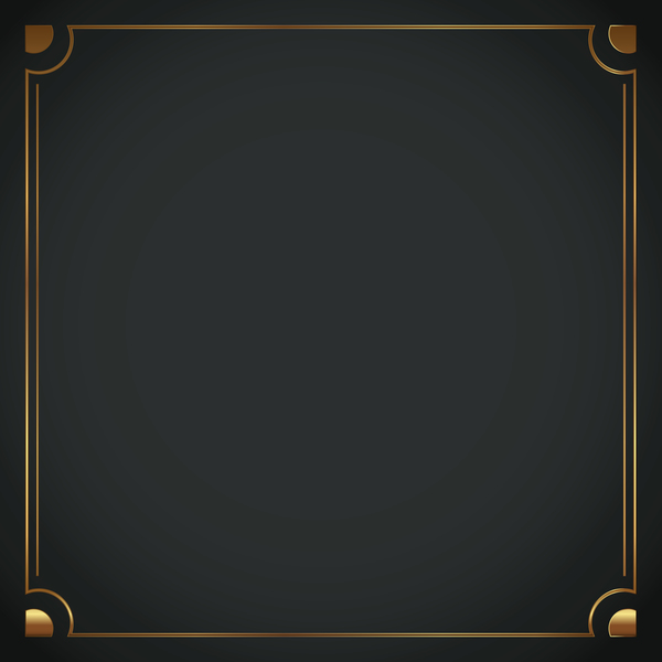 Luxury frame on black background vector - WeLoveSoLo