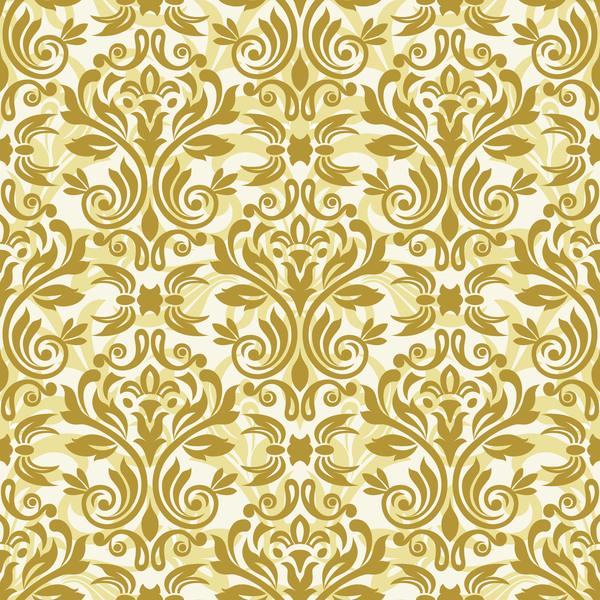 seampes pattern luxury golden damask