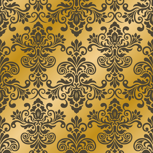 seampes pattern luxury golden damask
