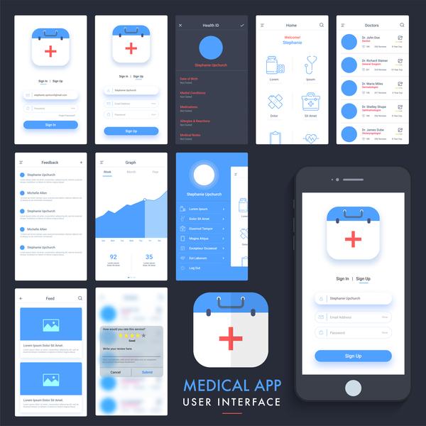 user medical interface app
