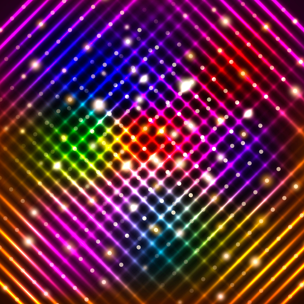 mesh glowing colorful