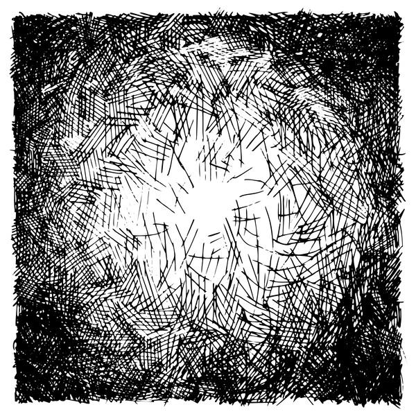 white Messy lines black