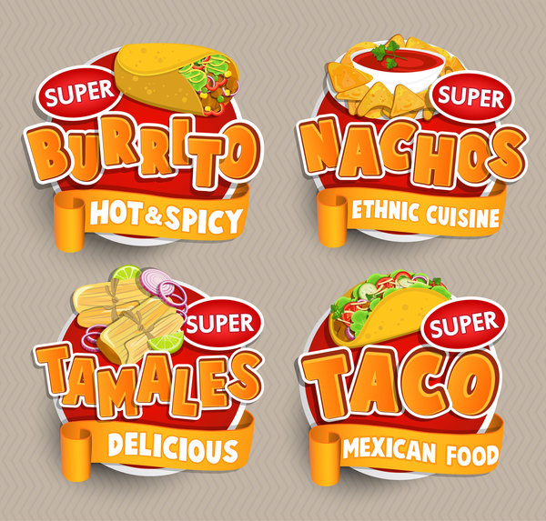 sticker mexican labels food