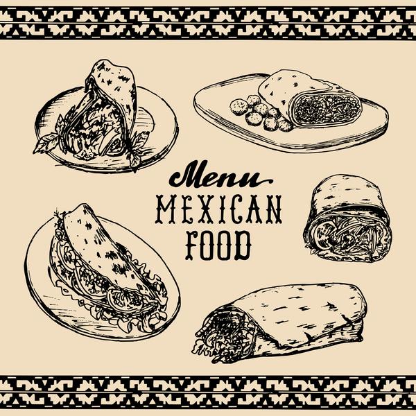 mexican menu food cover