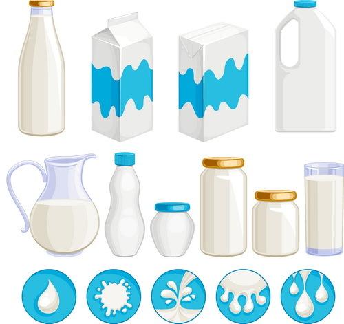 package milk box bottle