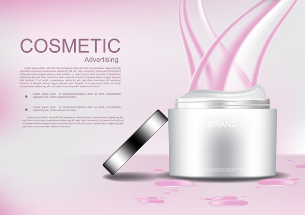 pink opened lines cream cosmetic abstract