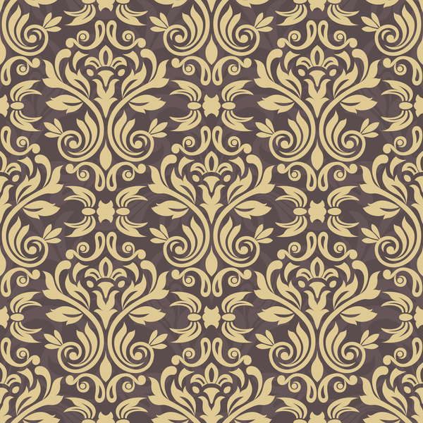 seamless pattern ornament ornage damask
