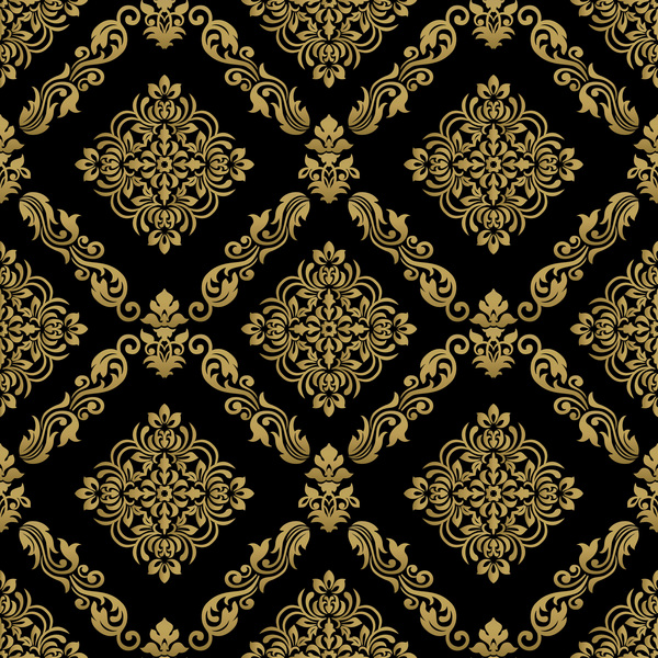 seamless pattern ornament ornage damask