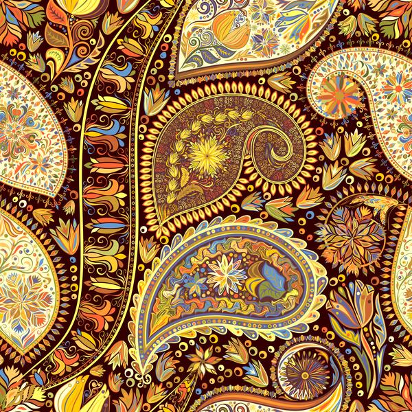 seamless pattern paisley ornate