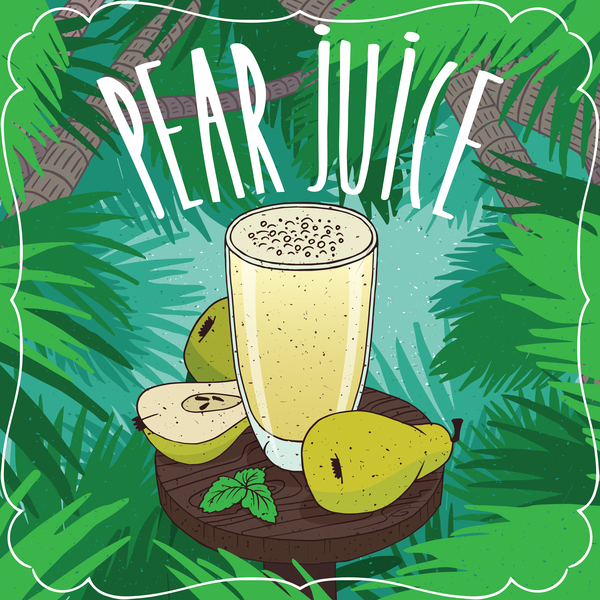 poster pear juice