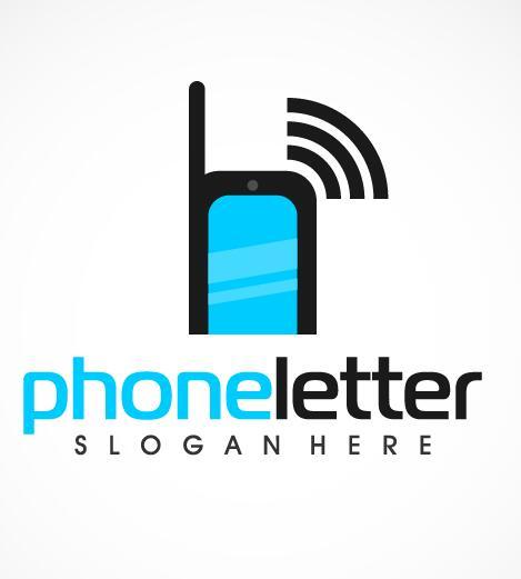 phone logo letter