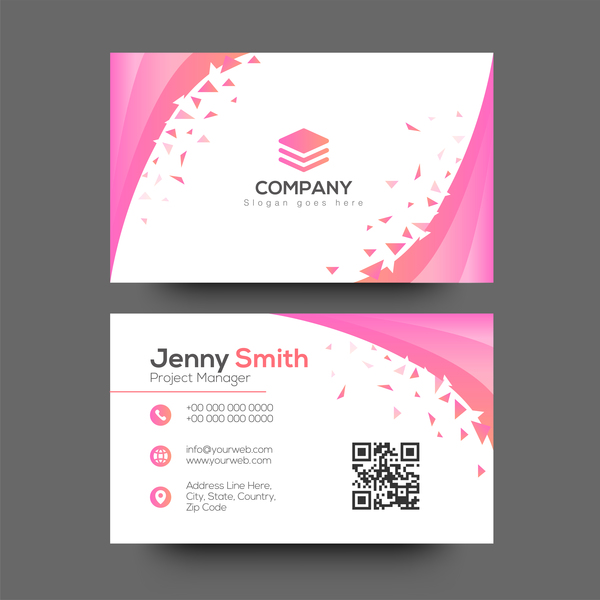 Pink abstract business card vector welovesolo pink business abstract colourmoves