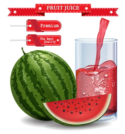 watermelon tag red juice