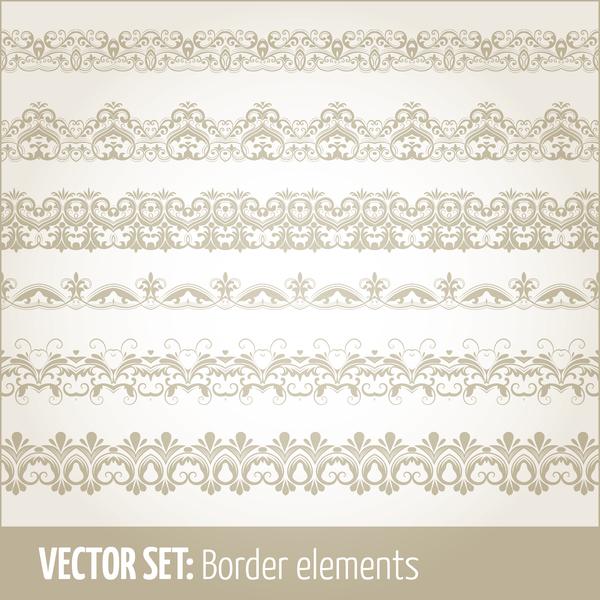 seamless Retro font decor borders