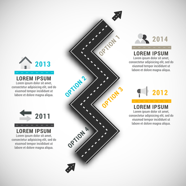 traffic road infographic