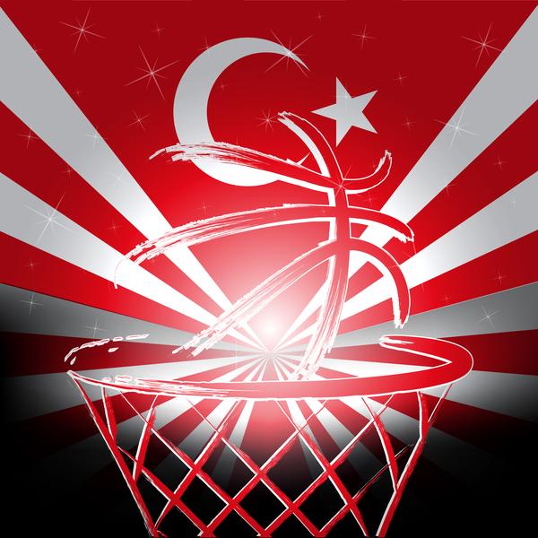 Rurkish flag basketball