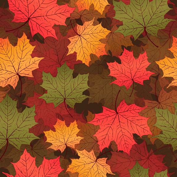 seamless pattern leaves autumn
