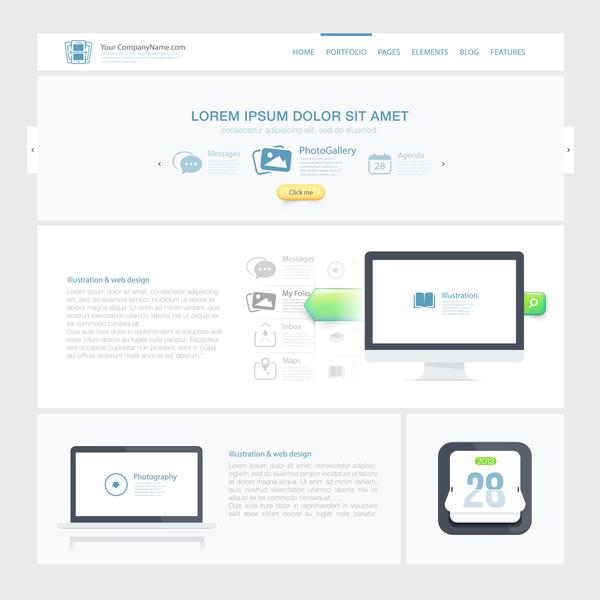 white website simple
