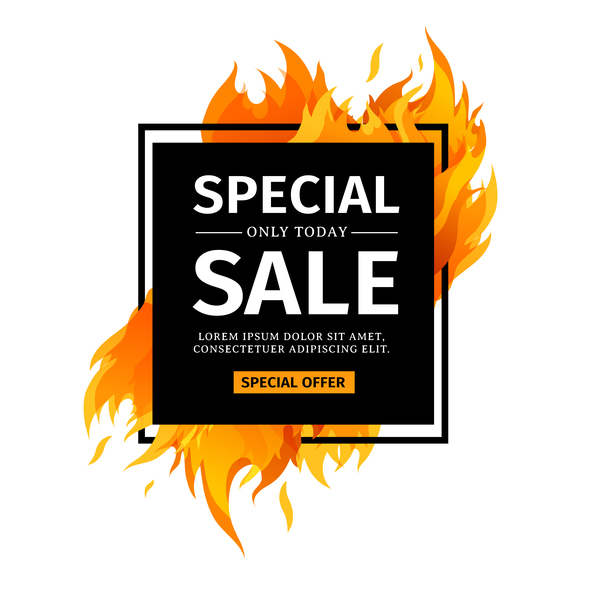 white special sale frame flame