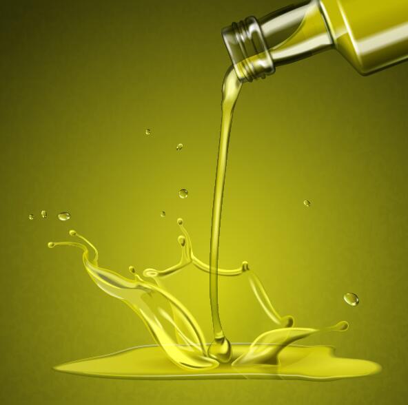 splashing olive oil