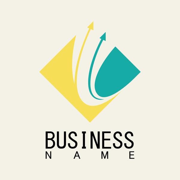 square logo business arrow