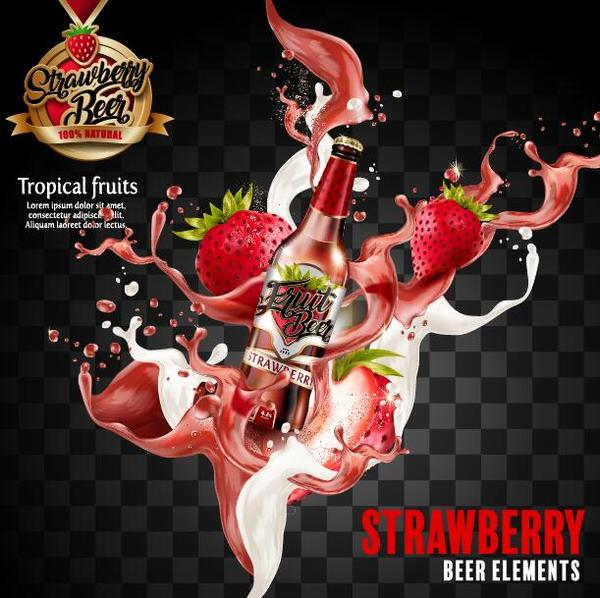 strawberry poster beer