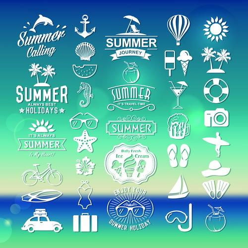typography summer logos
