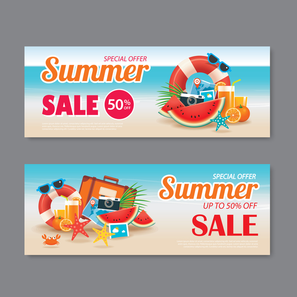 summer special offer banners