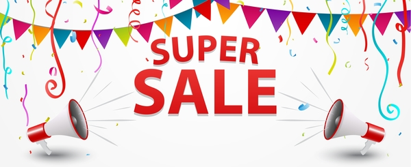 super sale poster template vector material welovesolo
