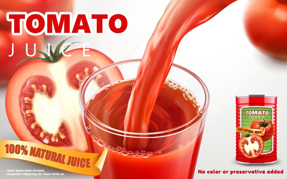 tomato poster natural juice