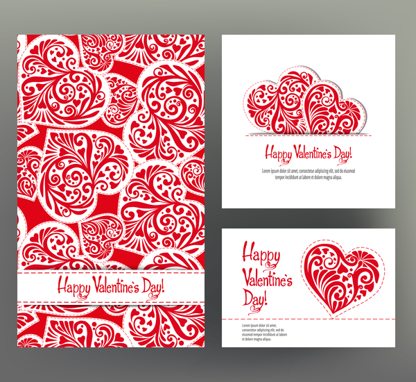 Valentine day card template vector kit 03 - WeLoveSoLo
