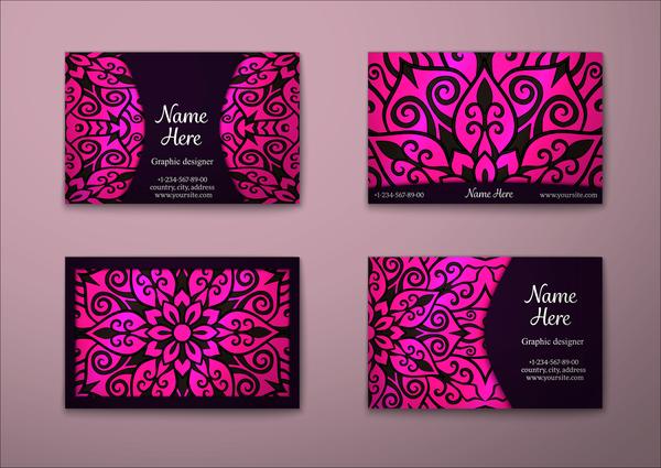 vintage floral decor card business