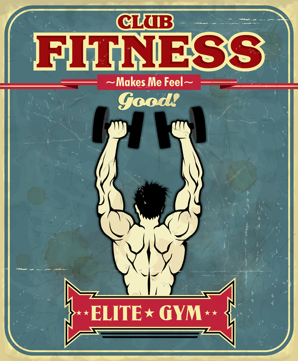 vintage poster fitness club