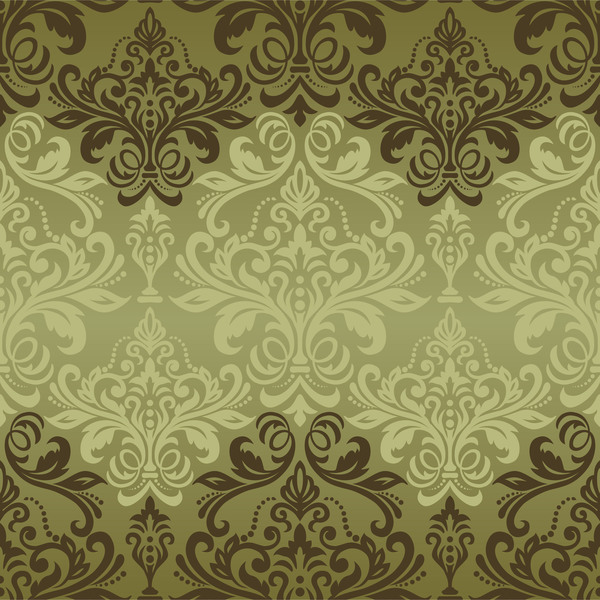 vintage seamless pattern seamless pattern green damask