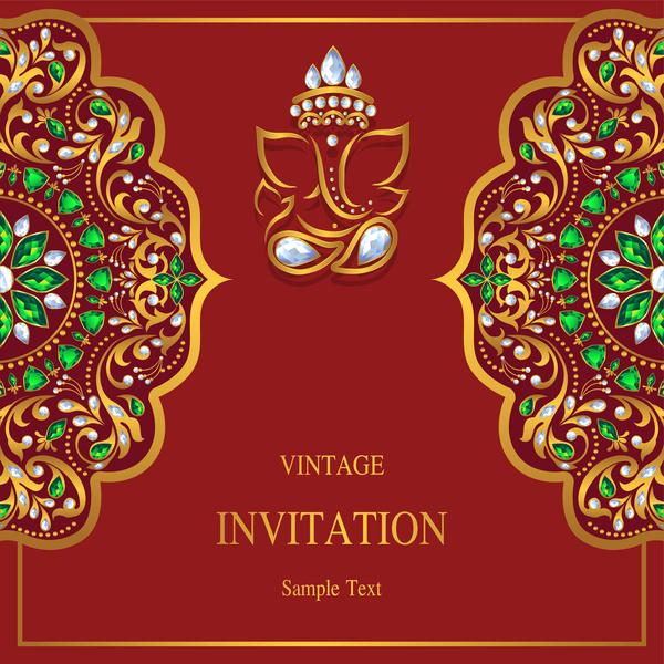 Vintage invitation card template luxury vector 02 welovesolo vintage invitation card stopboris Images