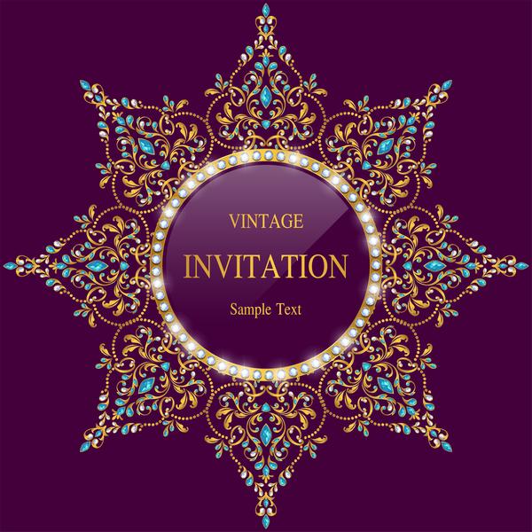 vintage invitation card template luxury vector 13 welovesolo