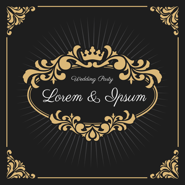 vintage luxury frame with label template vector 05 welovesolo