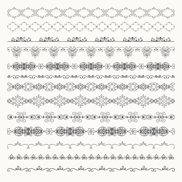 vintage seamless calligraphic borders