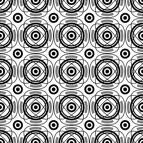 white seamless pattern Geometry black