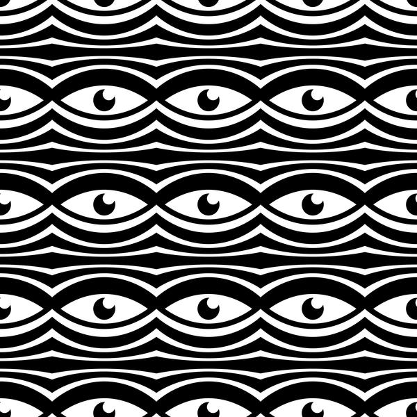 white seamless pattern Geometry black