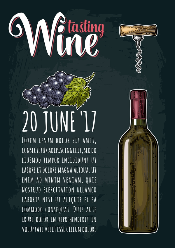 wine poster grape