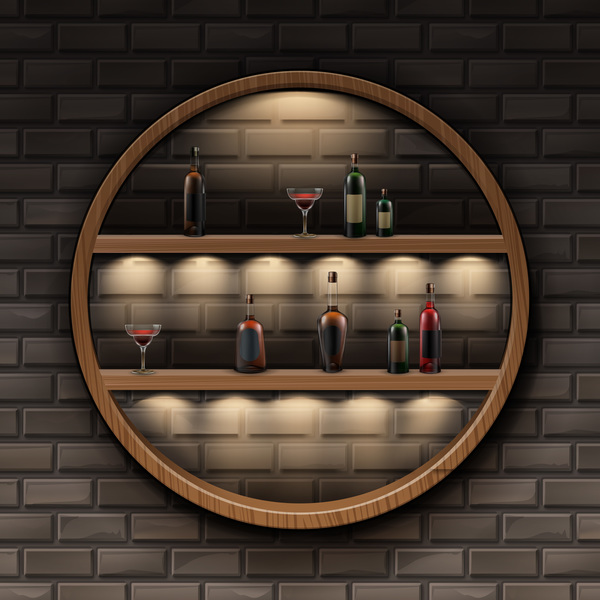 wine wall racks interior