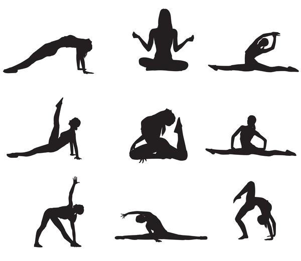 Workout women silhouette