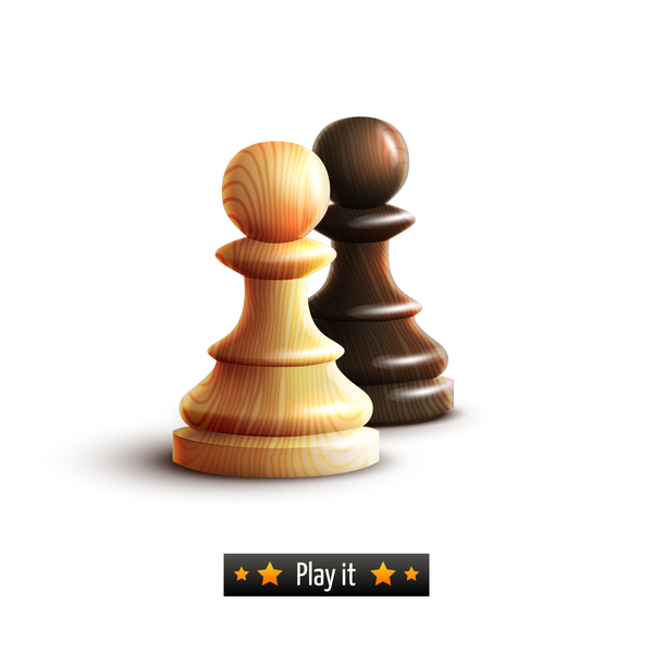 wooden pieces chess