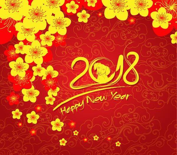 yellow year new flower 2018